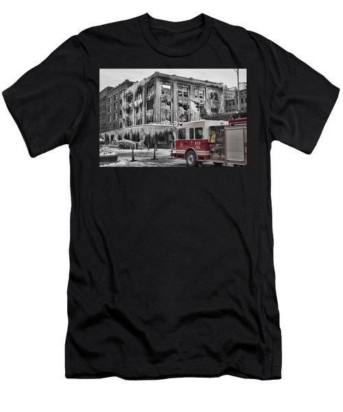 Pride, Commitment, And Service -after The Fire Men's T-Shirt (Athletic Fit)
