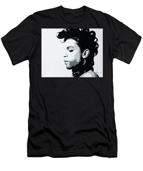 Men's T-Shirt (Slim Fit) featuring the painting Prince by Ashley Price