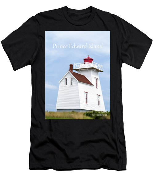 Prince Edward Island Lighthouse Poster Men's T-Shirt (Athletic Fit)