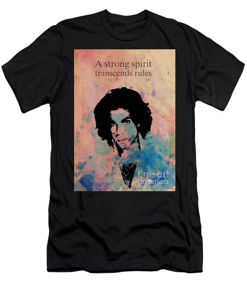 Prince Quote A Strong Spirit Transcends Rules Men's T-Shirt (Athletic Fit)