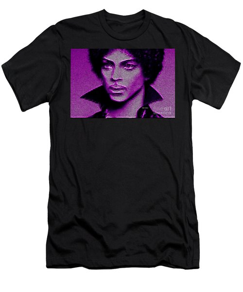 Prince - Tribute In Purple Men's T-Shirt (Athletic Fit)