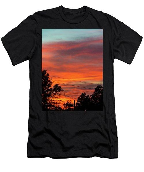 Princeton Junction Sunset Men's T-Shirt (Athletic Fit)
