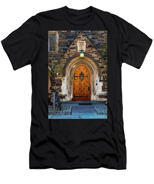 Men's T-Shirt (Slim Fit) featuring the photograph Princeton University Henry Hall by Susan Candelario