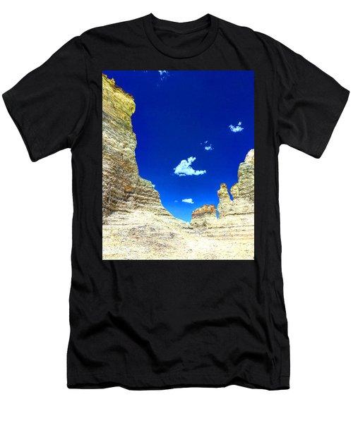 Pristine Sky Meets Historic Rocks Men's T-Shirt (Athletic Fit)