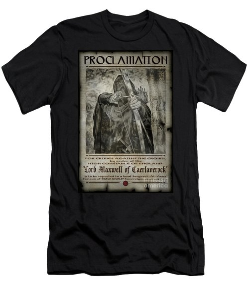 Men's T-Shirt (Athletic Fit) featuring the photograph Proclamation Poster Lord Maxwell by Brad Allen Fine Art
