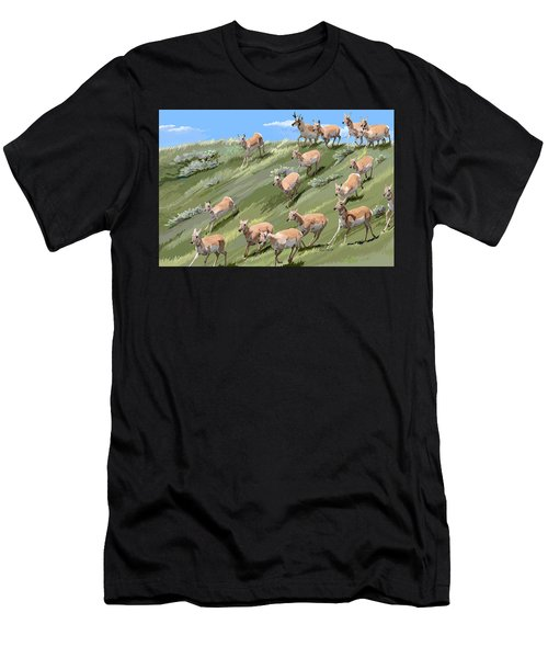 Pronghorn Promenade Men's T-Shirt (Athletic Fit)