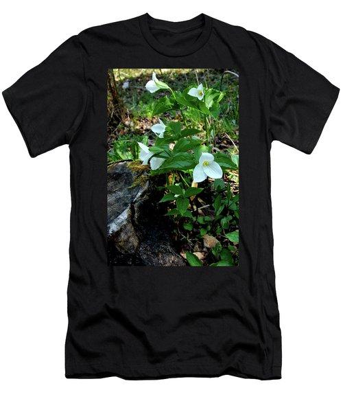 Men's T-Shirt (Slim Fit) featuring the photograph Protected Wild Trillium  by LeeAnn McLaneGoetz McLaneGoetzStudioLLCcom