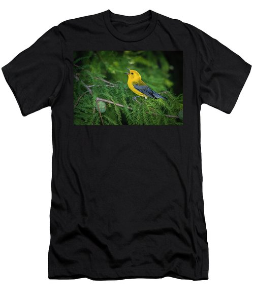 Prothonatory Warbler 9809 Men's T-Shirt (Athletic Fit)