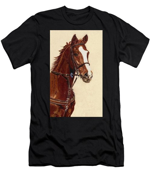 Proud - Portrait Of A Thoroughbred Horse Men's T-Shirt (Athletic Fit)