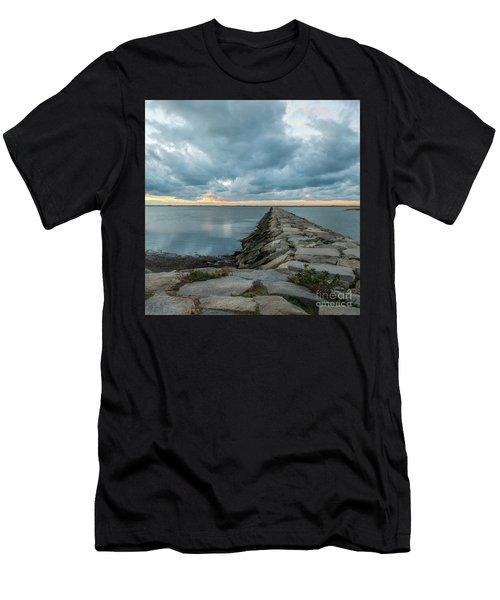 Provincetown Breakwater #3 Men's T-Shirt (Athletic Fit)