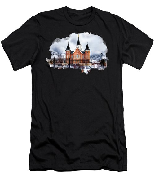 Provo City Center Temple Lds Large Canvas Art, Canvas Print, Large Art, Large Wall Decor, Home Decor Men's T-Shirt (Athletic Fit)