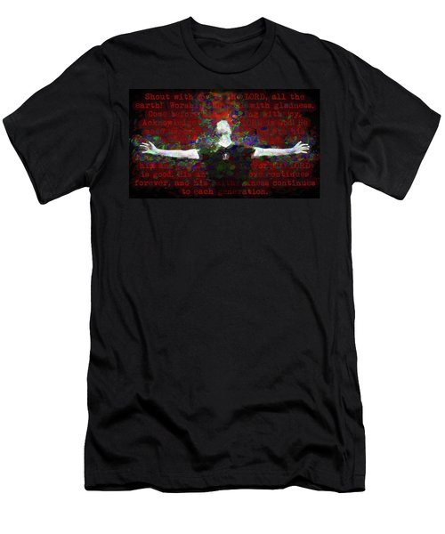 Psalm 100 Men's T-Shirt (Athletic Fit)