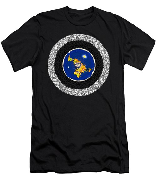 Psalm 37 Flat Earth Men's T-Shirt (Athletic Fit)