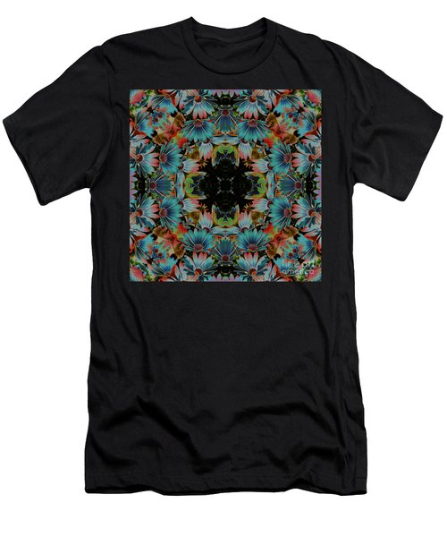 Psychedelic Daisies Men's T-Shirt (Slim Fit) by Smilin Eyes  Treasures