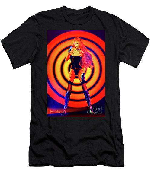 Psychedelic Hypnotic Pin-up Girl Men's T-Shirt (Athletic Fit)