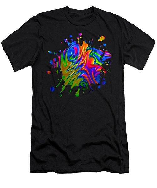 Psychedelic Rainbow Fractal Men's T-Shirt (Athletic Fit)