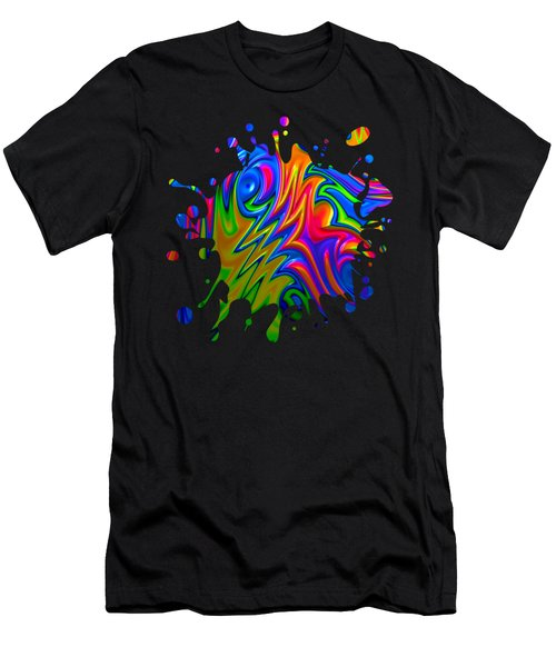 Men's T-Shirt (Athletic Fit) featuring the digital art Psychedelic Rainbow Fractal by Becky Herrera