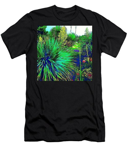 Psychedelic Yuccas. #plant #yucca Men's T-Shirt (Athletic Fit)