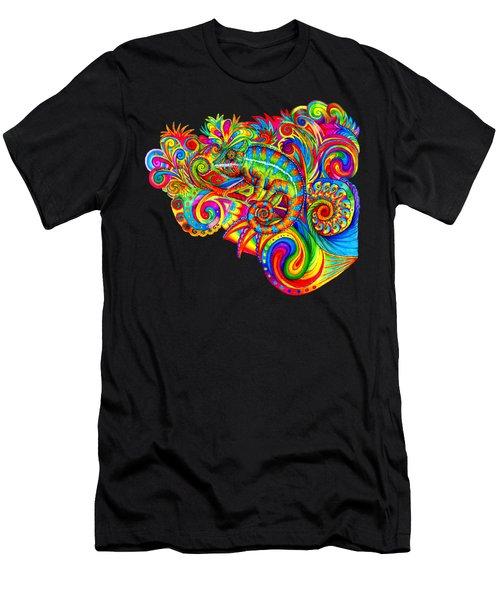 Psychedelizard Men's T-Shirt (Athletic Fit)