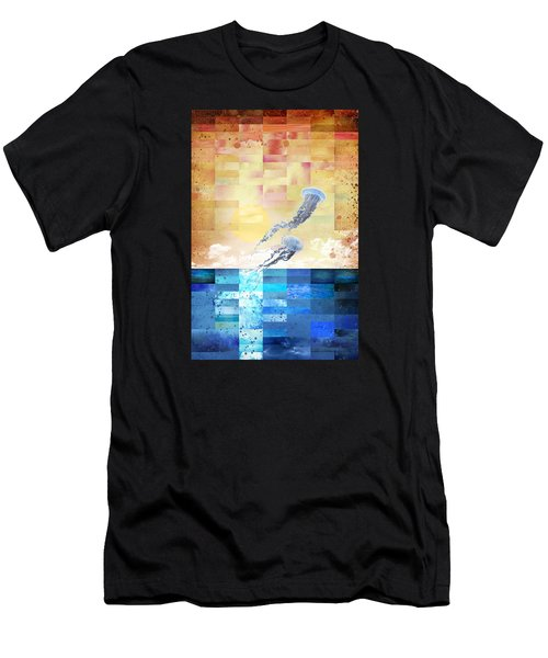 Psychotropic Rhythms Men's T-Shirt (Slim Fit) by Christina Lihani