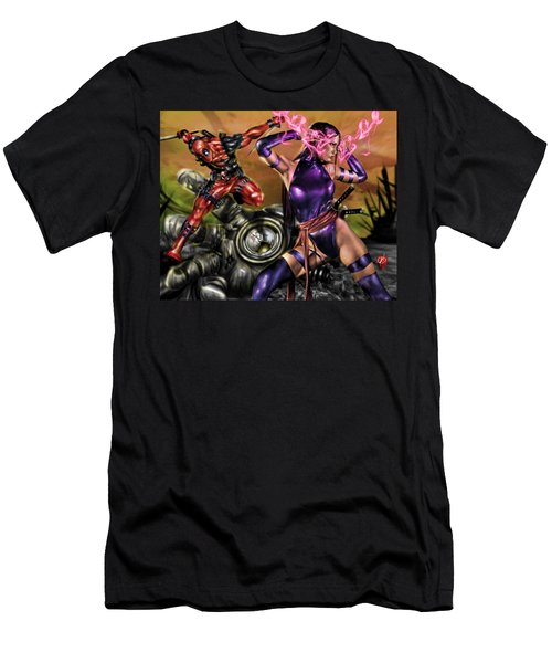 Psylocke And Deadpool Men's T-Shirt (Athletic Fit)