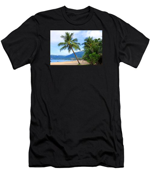 Phuket Patong Beach Men's T-Shirt (Slim Fit) by Mark Ashkenazi