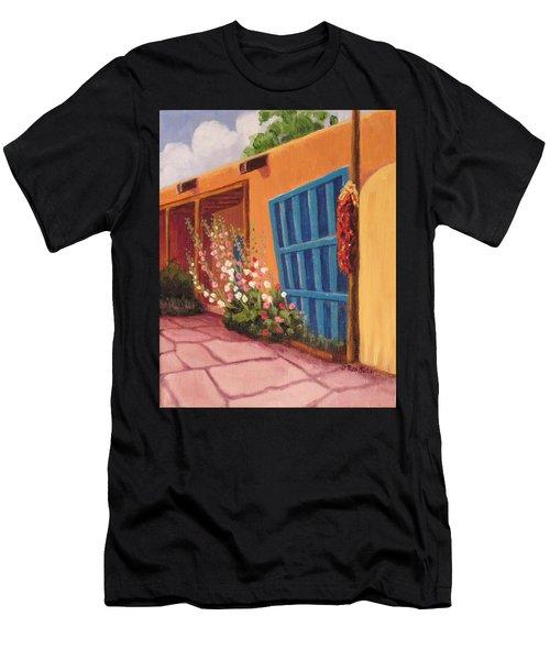 Puerta Azul En Taos Men's T-Shirt (Athletic Fit)
