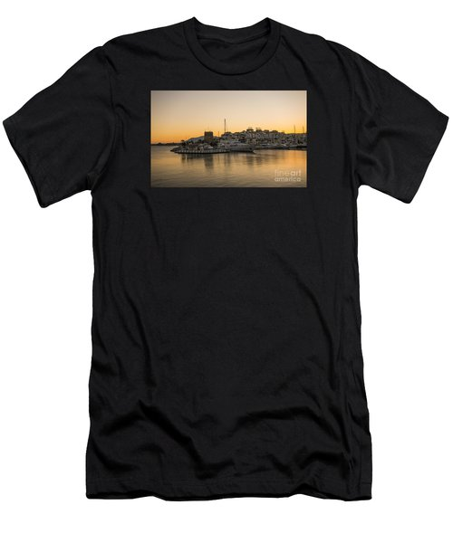 Puerto Banus In Marbella At Sunset. Men's T-Shirt (Athletic Fit)