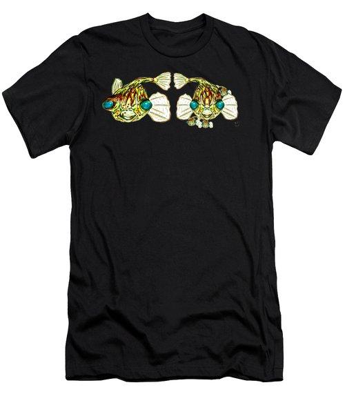 Puffer Fish Lary Loretta And Mini Puffs Men's T-Shirt (Athletic Fit)