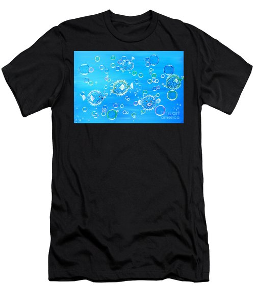 Pufferfish Playtime Men's T-Shirt (Athletic Fit)