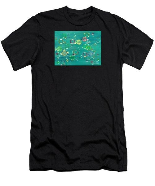 Pufferfish Rainbow Men's T-Shirt (Athletic Fit)