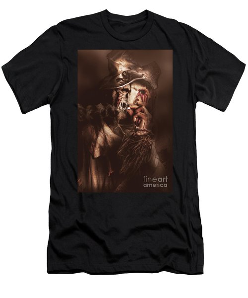 Puffing Billy The Smoking Scarecrow Men's T-Shirt (Athletic Fit)