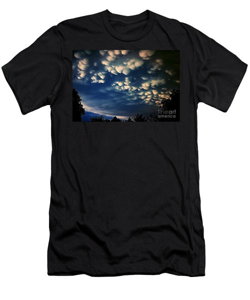 Puffy Storm Clouds Men's T-Shirt (Athletic Fit)