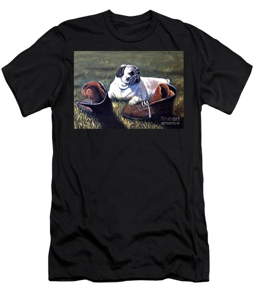 Pug And Boots Men's T-Shirt (Athletic Fit)