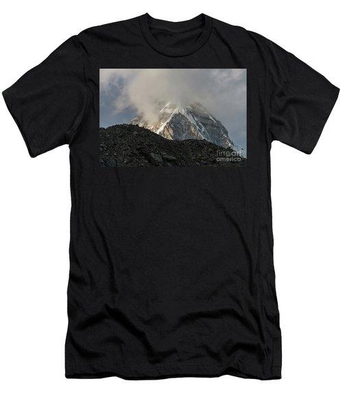 Men's T-Shirt (Slim Fit) featuring the photograph Pumori Dusk Light by Mike Reid