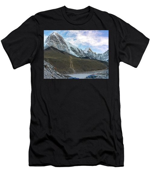 Pumori Peak Above Kalla Patthar And Gorak Shep Men's T-Shirt (Athletic Fit)