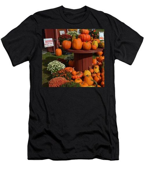 Pumpkin Display Men's T-Shirt (Athletic Fit)