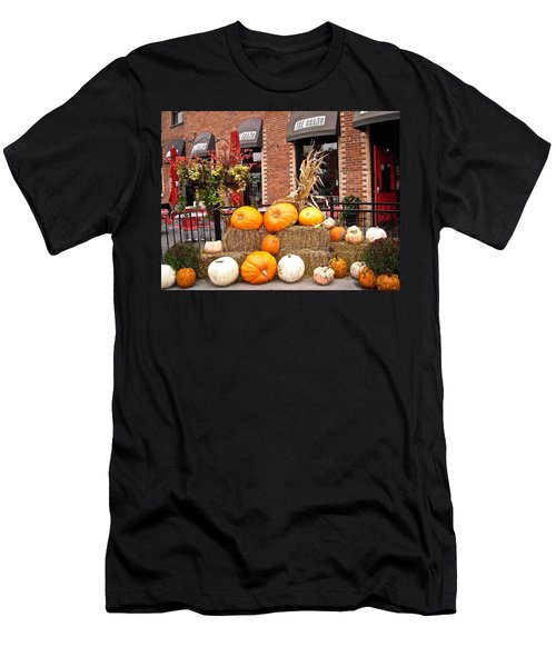 Pumpkin Display Men's T-Shirt (Slim Fit) by Stephanie Moore