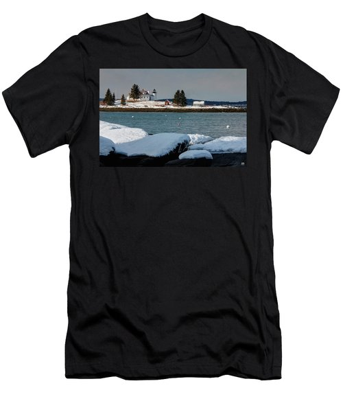 Pumpkin Island Lighthouse Men's T-Shirt (Athletic Fit)