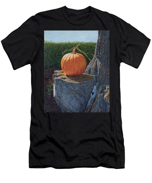 Pumpkin On A Dead Willow Men's T-Shirt (Athletic Fit)