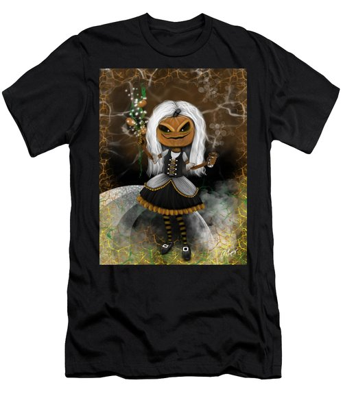Pumpkin Spice Latte Monster Fantasy Art Men's T-Shirt (Athletic Fit)