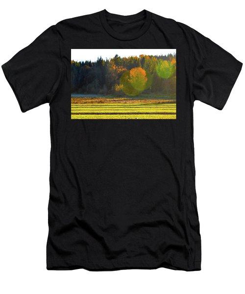 Pumpkin Sunset Men's T-Shirt (Athletic Fit)
