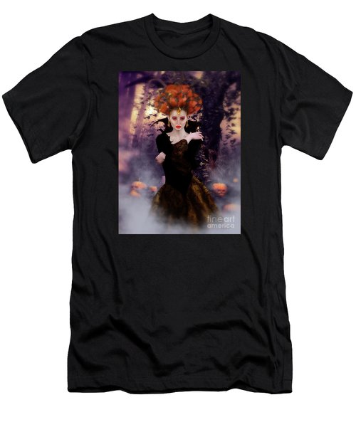 Men's T-Shirt (Slim Fit) featuring the digital art Pumpkin Witch by Shanina Conway