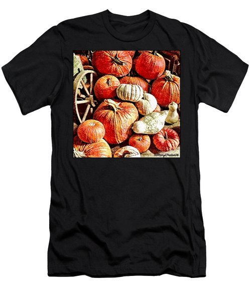 Pumpkins In The Barn Men's T-Shirt (Slim Fit) by MaryLee Parker