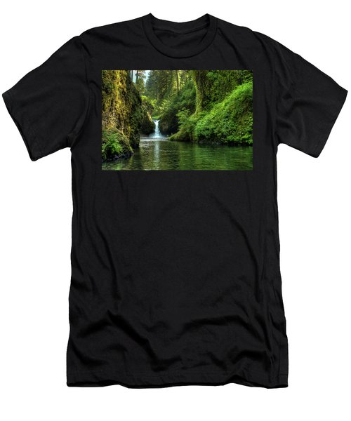 Punch Bowl Falls Men's T-Shirt (Athletic Fit)