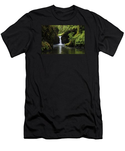 Punchbowl Falls Signed Men's T-Shirt (Athletic Fit)