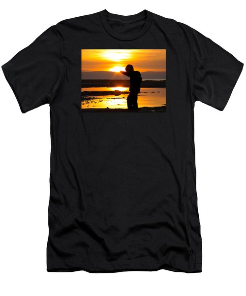 Men's T-Shirt (Slim Fit) featuring the photograph Punching The Sun by RKAB Works