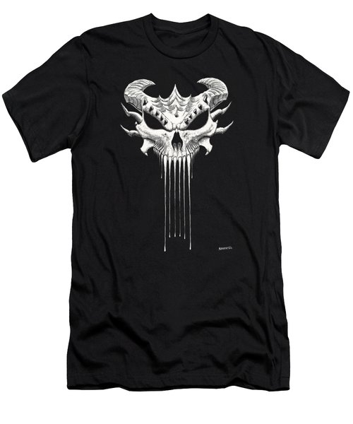 Dragon Skull T-shirt Men's T-Shirt (Athletic Fit)