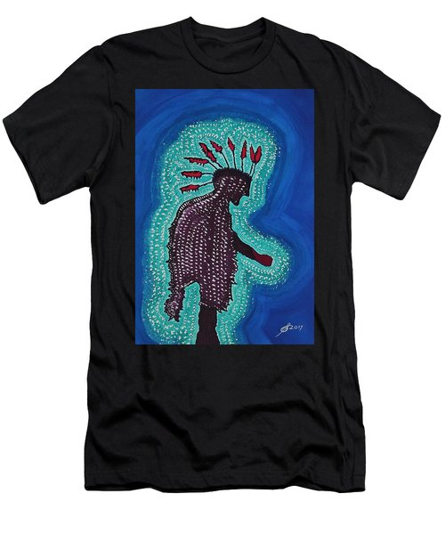 Punk Shaman Original Painting Men's T-Shirt (Athletic Fit)