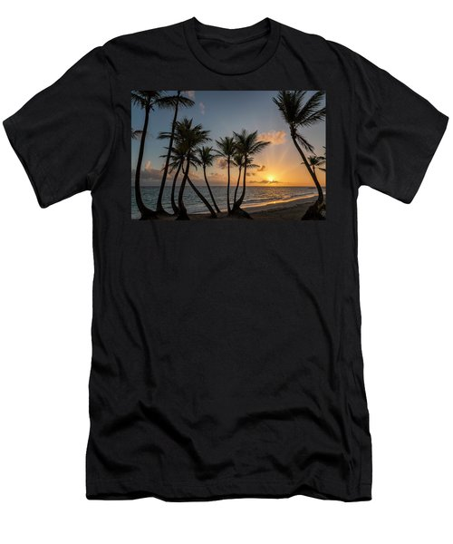 Men's T-Shirt (Athletic Fit) featuring the photograph Punta Cana Sunrise by Adam Romanowicz